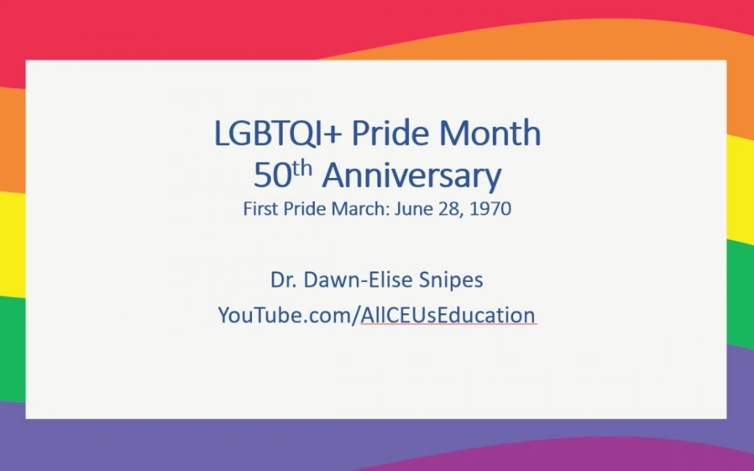 #PrideMonth Practice Improvement Live with Dr. Dawn-Elise Snipes